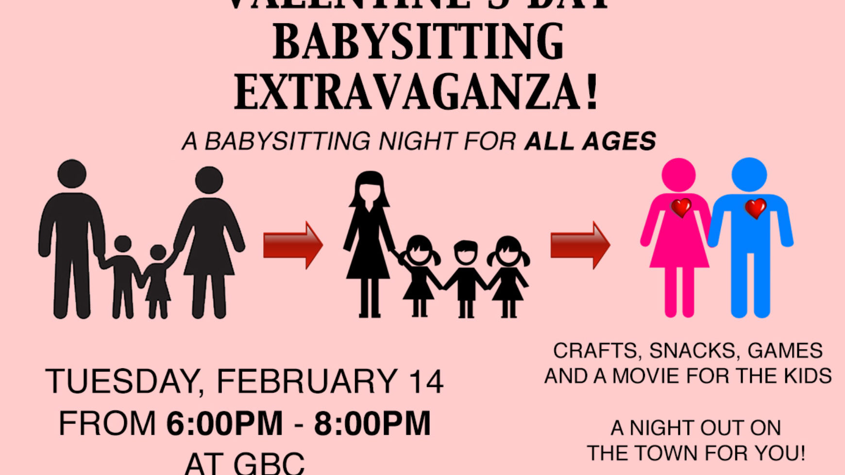 Valentine's Day Babysitting Extravaganza!